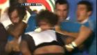 Rugby, Italy-Fiji, brawl after high tackle